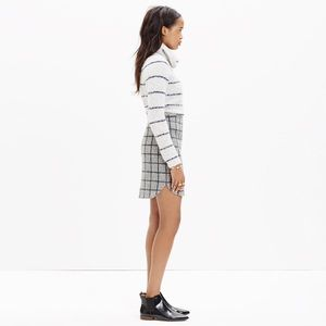 Madewell | wool shirttail mini skirt in gridcheck